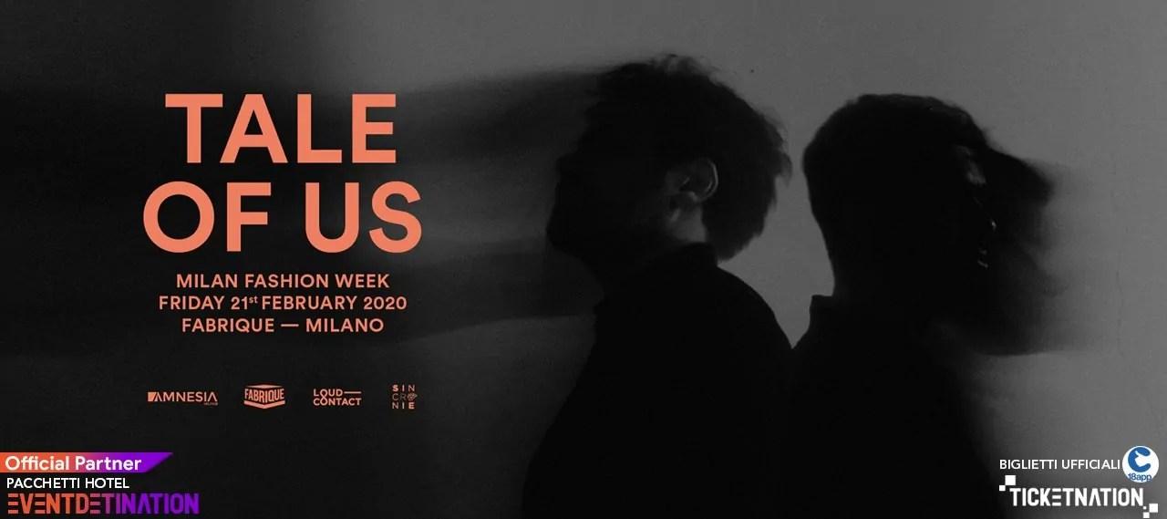 Tale Of Us Fabrique Milano 21 02 2020 Ticket E Pacchetti