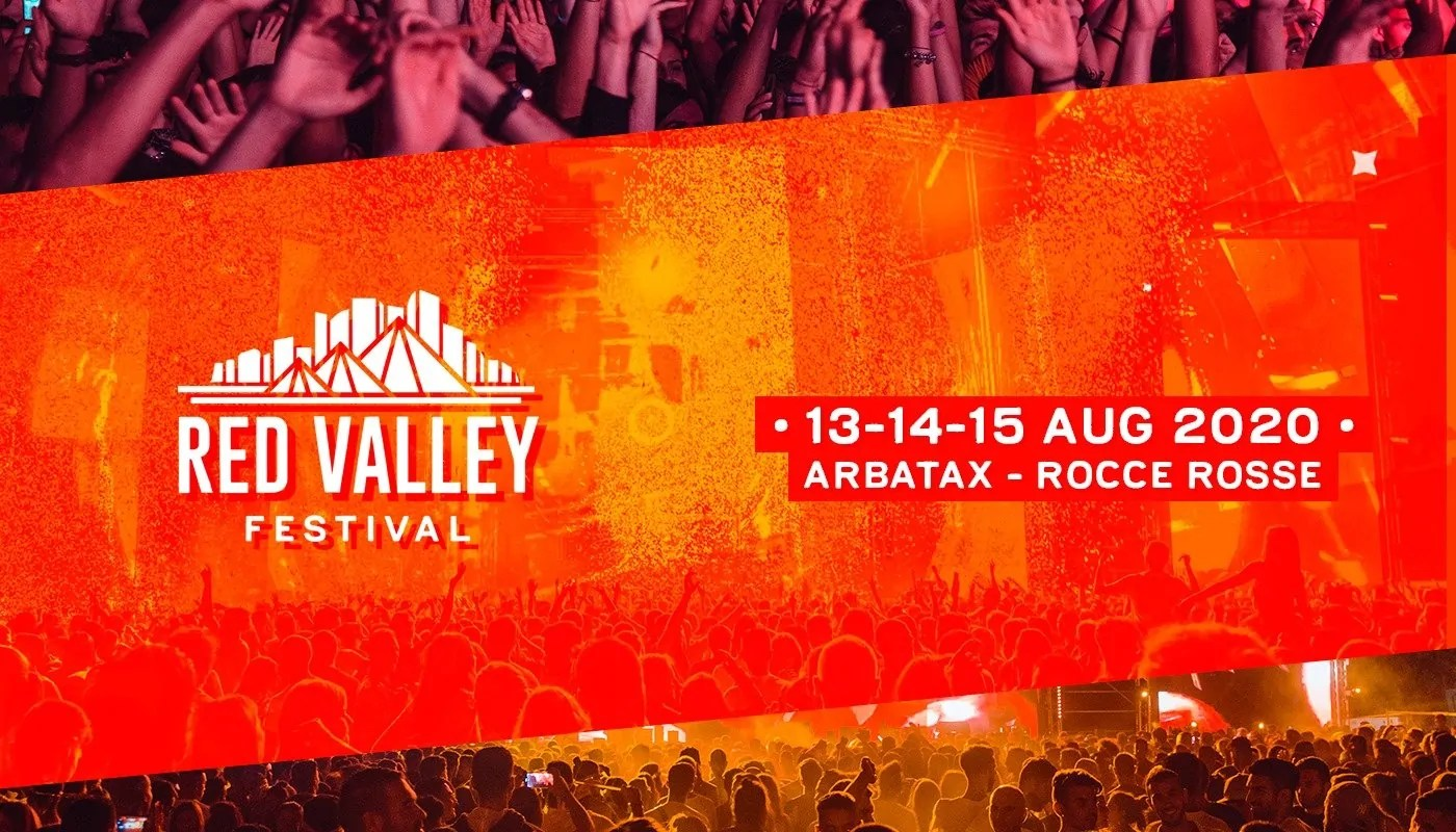 Red Valley Festival 2020 Arbatax 13 – 15 Agosto Sardegna Piazzale Rocce Rosse