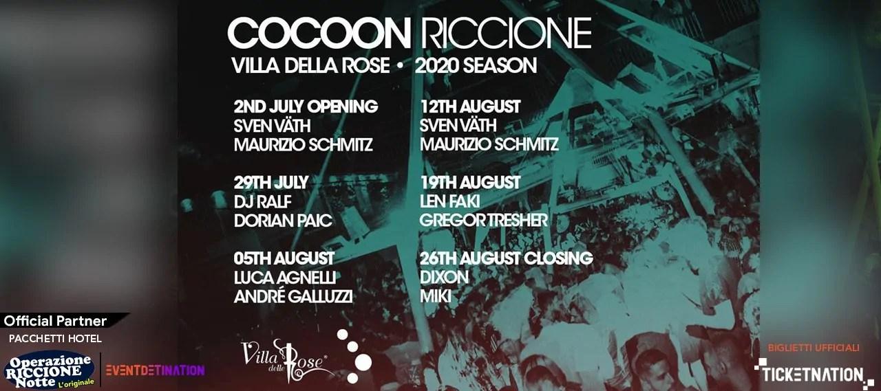SVEN VATH Villa Delle Rose – Cocoon Party Riccione Mercoledì 12 08 2020
