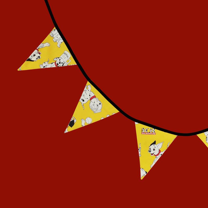 guirlande dalmatiens dessin animé rétro vintage