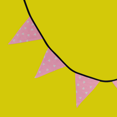 fanions pink hearts chambre déco