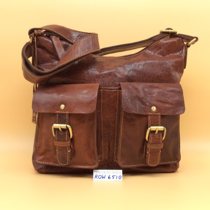 Rowallan Leather Bag - 6510. Cognac