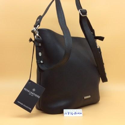 Nova Leather Bag. N876. Black