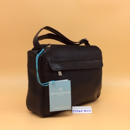 Nova Leather Bag. N554. Black