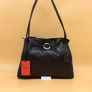 GIGI Soft Leather Bag - 4323G. Black
