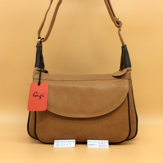 Gigi Leather Bag - 22-17G. Honey/Dk.Brown