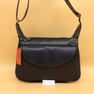 Gigi Leather Bag - 22-17G. Navy