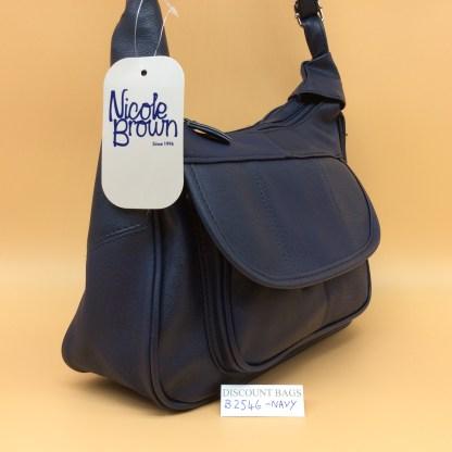 Classic Nicole Handbag. 2546. Navy
