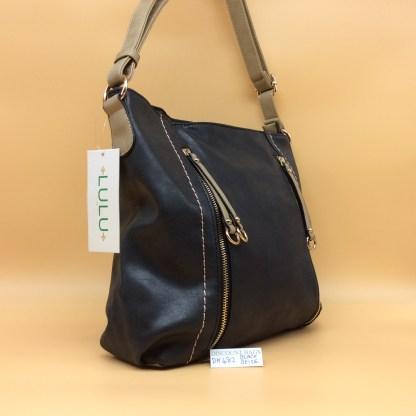 Lulu Fashion Bag. DK 482C. Black with Beige trim