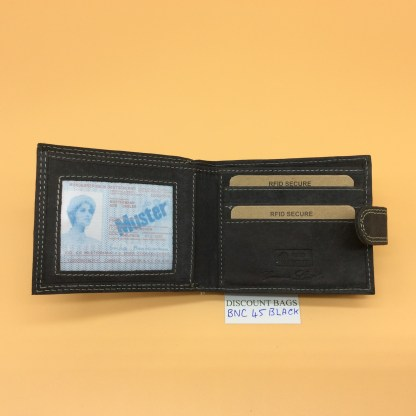 RFID Leather Wallet.NC - 45EH Black