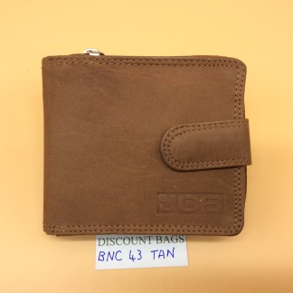 RFID Leather Wallet. NC.43MN. Tan