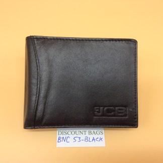 RFID Leather Wallet - NC53. Black