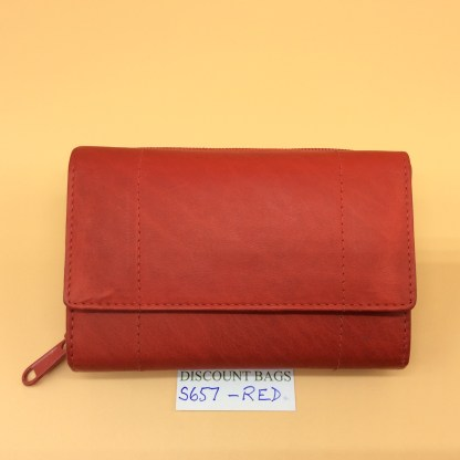 London Leather Goods. 0657. Red