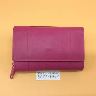 London Leather Goods. 0657. Pink