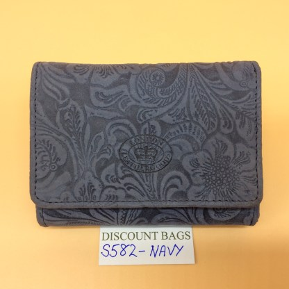 London Leather Goods. 0582. Navy