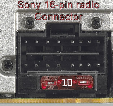 bhson16 replacement harness for select sony 16pin radios