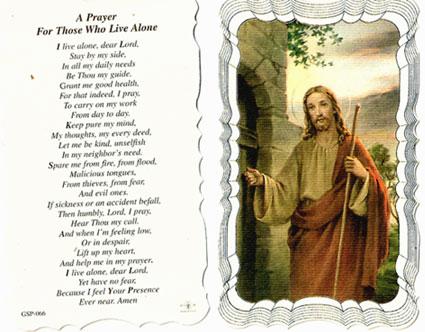 Those Who Live Alone Prayer Card