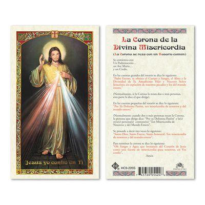 La Corona De La Divina Misericordia Laminated Prayer Card