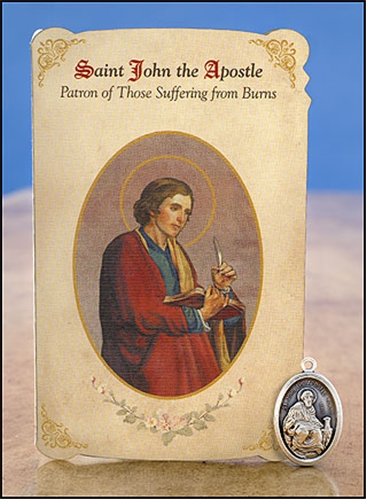 St John The Apostle Prayer Card Healing Prayer For Burns
