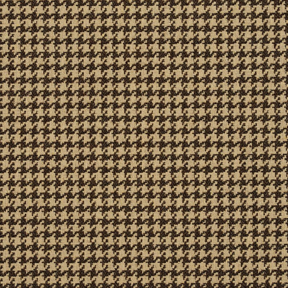 E857 Beige Classic Houndstooth Jacquard Upholstery Fabric