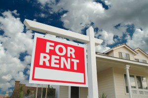for rent sign in front of new home