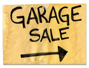 garage sale for quick cash