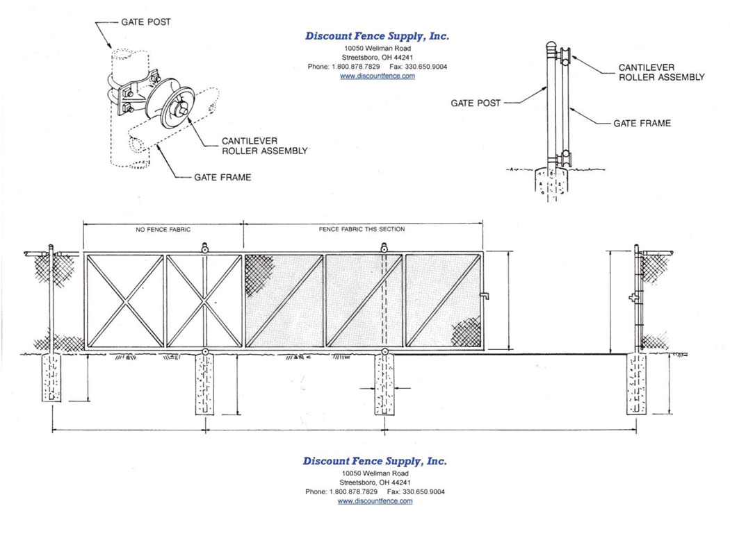 Cantilever Gate Fittings Discount Fence Supply Inc