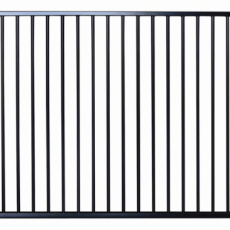 black flat top aluminium pool fence panel