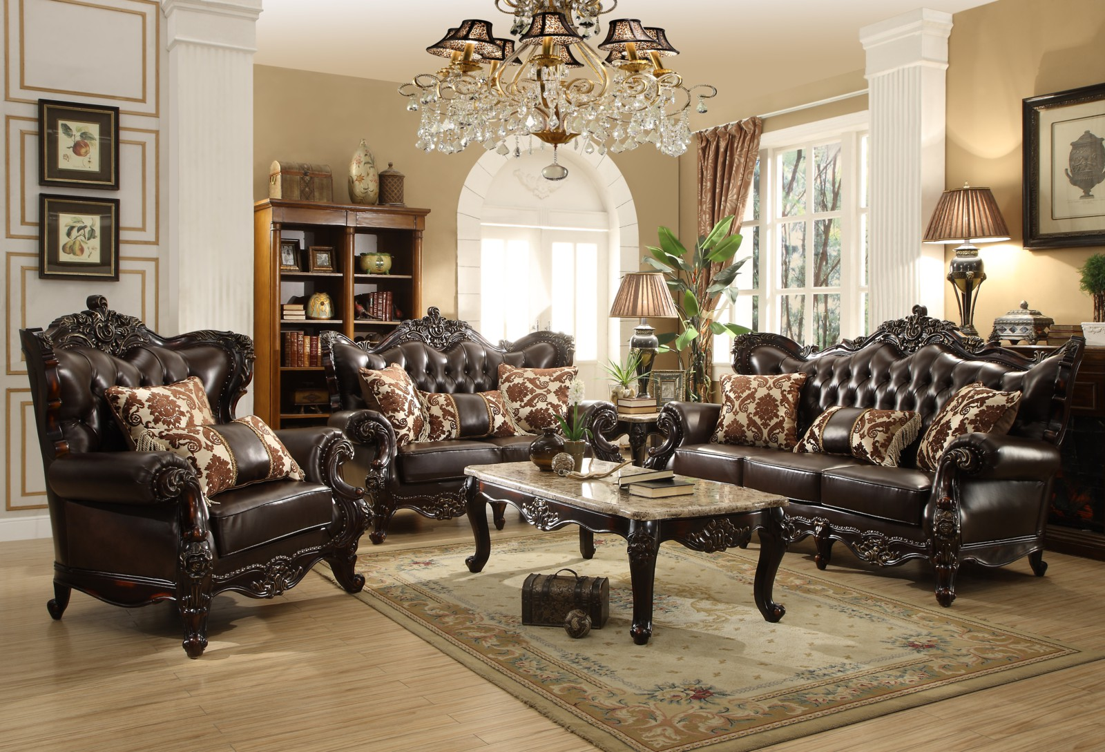 Meridian Barcelona 2 Piece Living Room Set