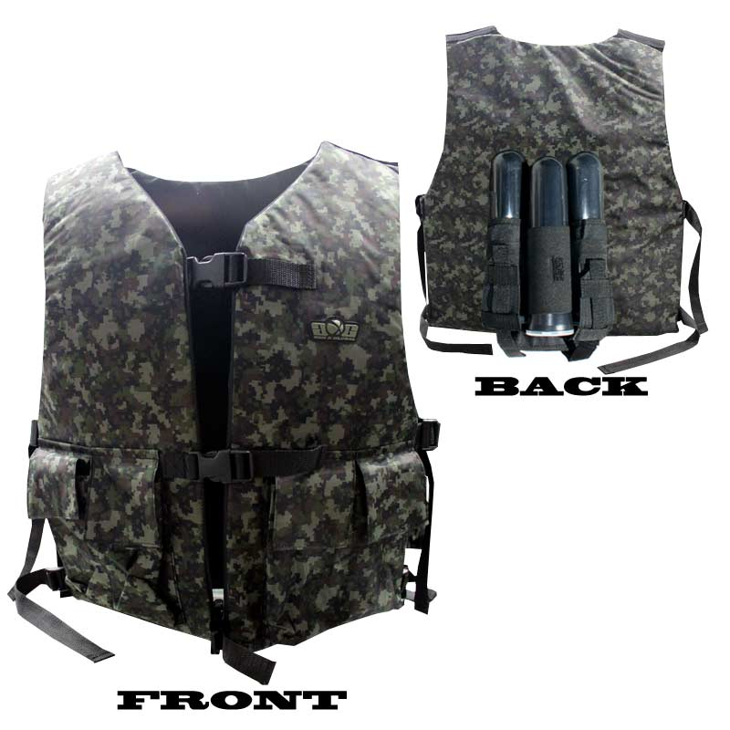 Gxg Tactical Vest Chest Protector With 2 1 Pouch