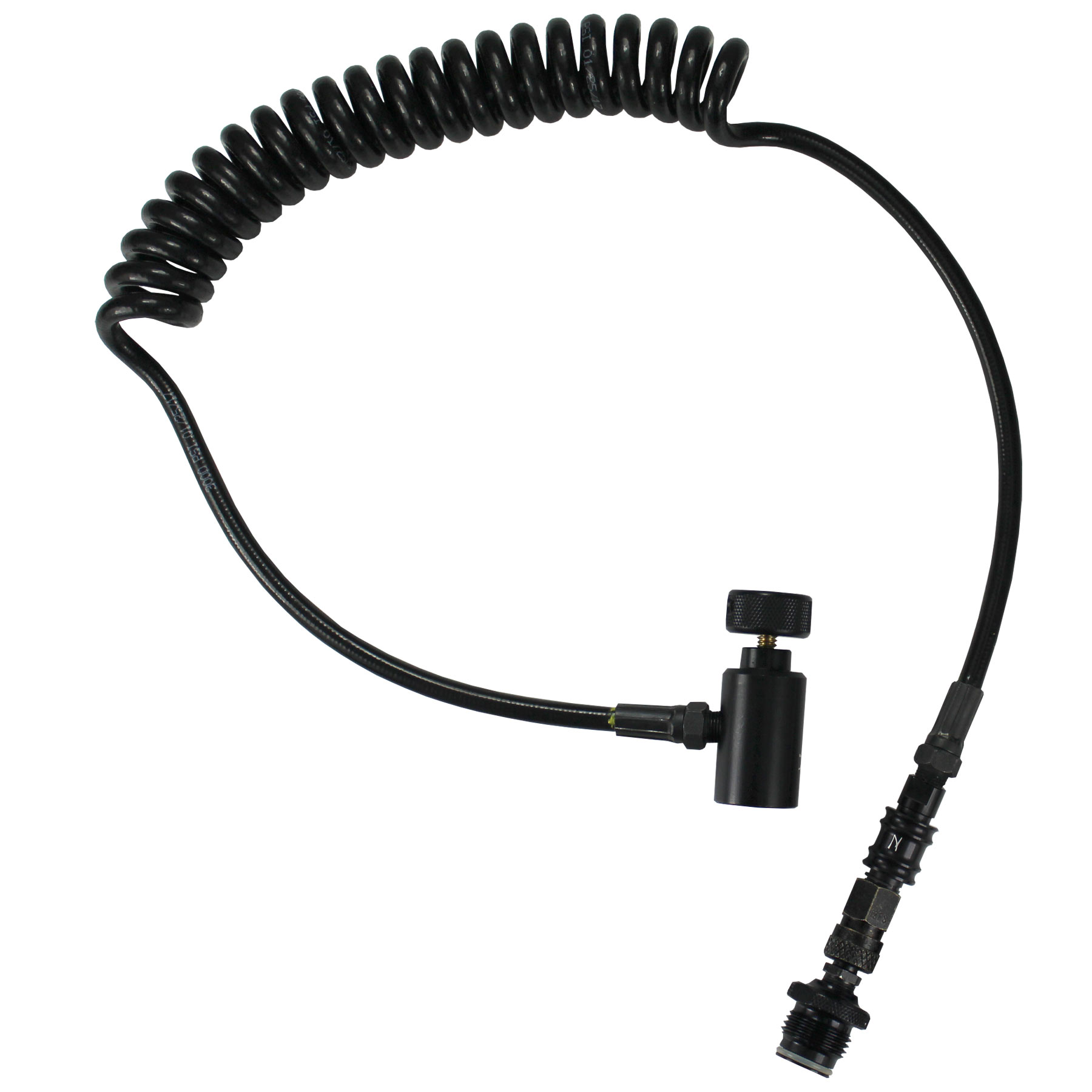 Ninja Paintball Coiled Remote Hose With Slide Check