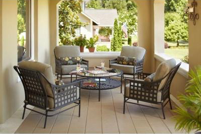 Image result for Hampton Bay Lynnfield 5-Piece Patio Conversation Set