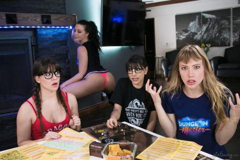 Alison Rey, Whitney Wright, Ivy Wolfe, Judy Jolie - Nerds Rule!: Labyrinths & Lesbians - watch video