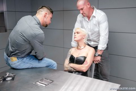 Mila Milan - Police Interrogation Turns Threesome - private.com offer