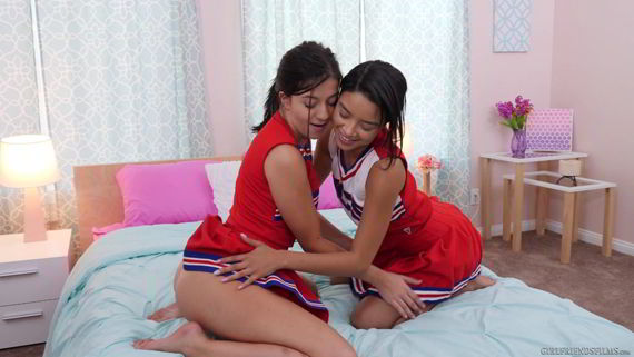 Maya Bijou, Natalie Brooks - Cheer Squad Sleepovers #28, Scene #04 - Girlfriends Films 1080p video
