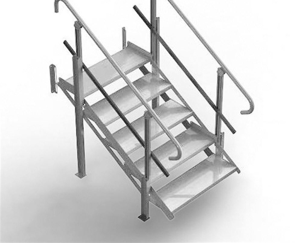 5 Step Modularrampstairs Discount Ramps   Portable Steps With Handrail   3 Step   Free Standing   Camper   Stair   Safety Step Ladder 4 Step