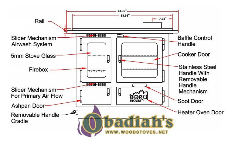 Boru Ellis Wood Cookstove At Obadiah S Woodstoves