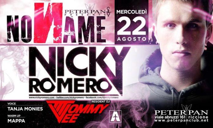 Mercoledi 22 Agosto Nicky Romero al Peter Pan di Riccione per la serata NoName