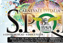 La serata di Carnevale di Sabato 23 Febbraio 2013 alla Baia Imperiale è stata spostata Sabato 2 Marzo 2013