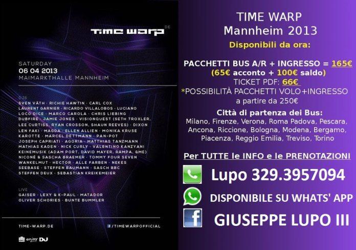 Time Warp 2013 Mannheim Germania Pacchetti Viaggio