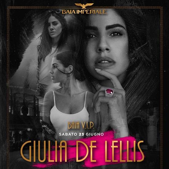 Sabato 23 Giugno 2018 Giulia De Lellis ospite speciale della Baia Imperiale