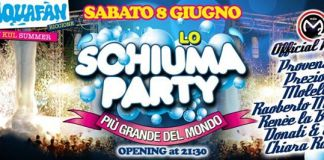 Calendario e programma Schiuma Party Aquafan Estate 2013