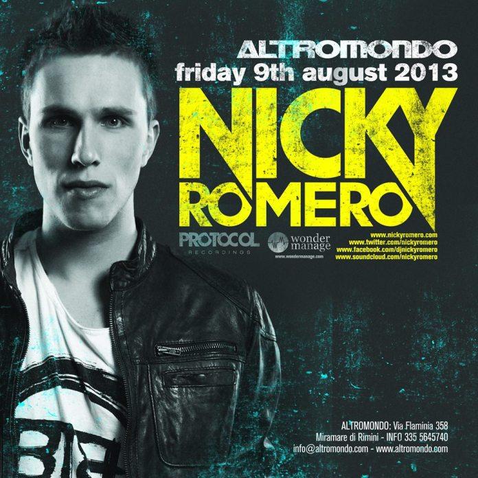 Venerdi 9 Agosto special guest Nicky Romero Altromondo Studios Rimini