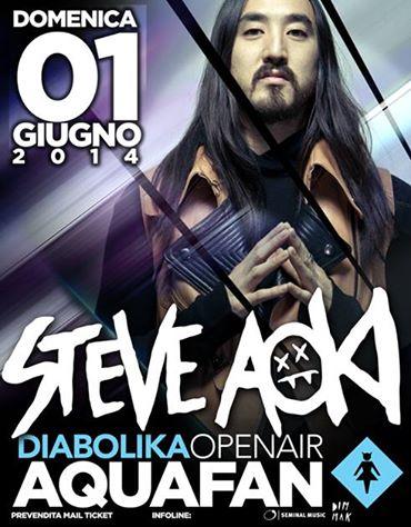 Domenica 1 Giugno 2014 Steve Aoki Aquafan Riccione