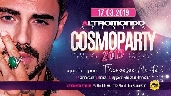Domenica 17 Marzo 2019 Party Cosmoprof Altromondo Studios (Rimini) ospite Francesco Monte