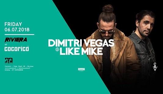 Per la Notte Rosa 2018 al Cocorico ospiti Dimitri Vegas & Like Mike