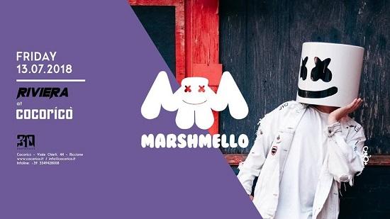 Il 13 Luglio Marshmello special guest del Cocorico