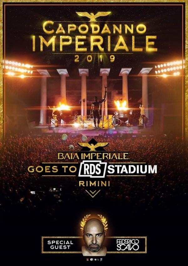 Il 31 dicembre 2018 all'RDS Stadium arriva il party Capodanno 2019 Baia Imperiale