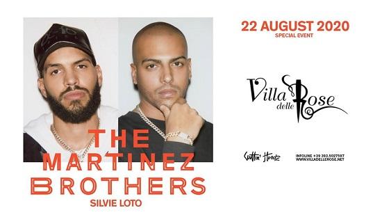The Martinez Brothers il 22 agosto alla Villa delle Rose