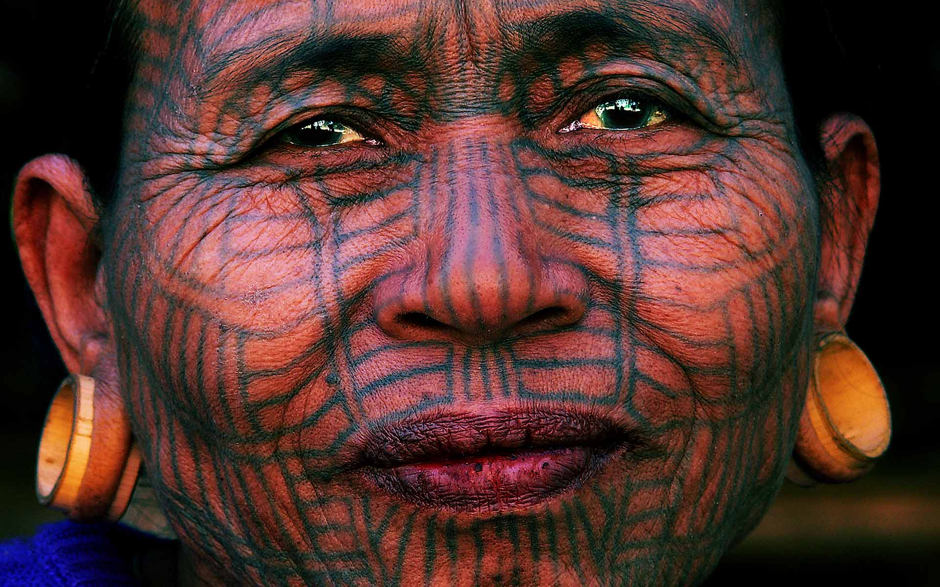 Norbert Klora Photo Woman with Spider Tattoo, Myanmar